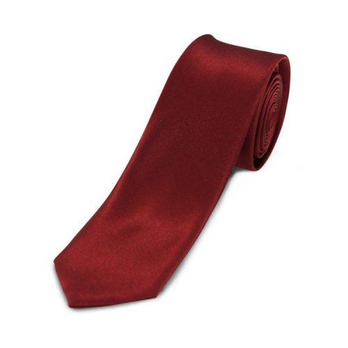 Ensfarvede Smalle Slips