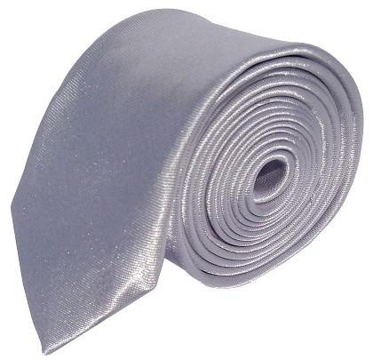 Sølv smalt slips