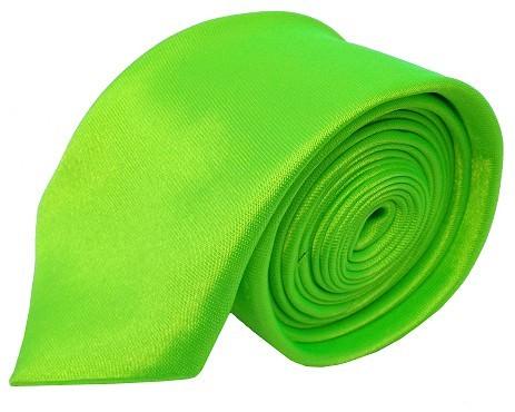 Neongrønt smalt slips