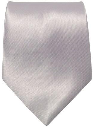 Sølv bredt slips