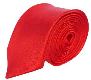 Rødt smalt slips