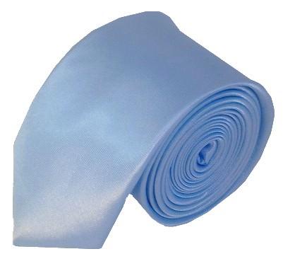 Lyseblåt smalt slips