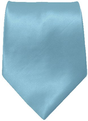 Lyseblåt bredt slips
