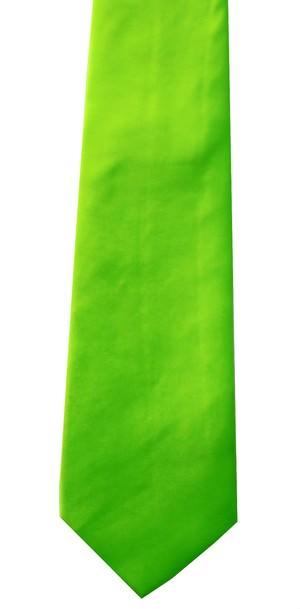 Neongrønt bredt slips