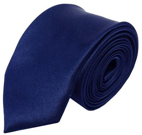 Navy blåt smalt slips