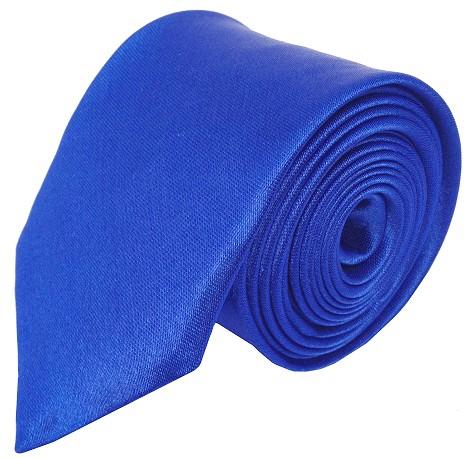 Blåt smalt slips