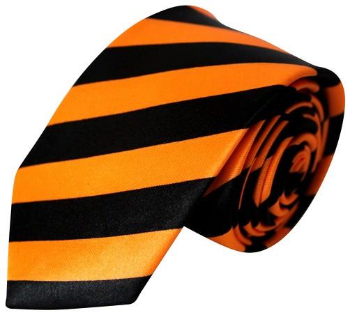 6e3a737e466ab Orange/Sort Stribet Smalt Slips - StyleGuy ApS