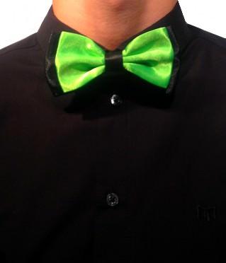Neongrøn & sort butterfly