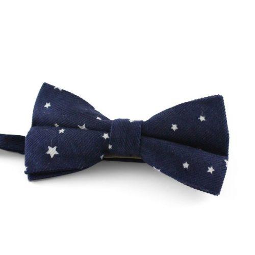 Navyblå Butterfly m. Hvide Stjerner