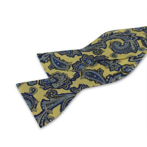 Gul Paisley Mønstret Selvbinder-butterfly