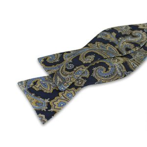 Paisley Navy Selvbinder-butterfly