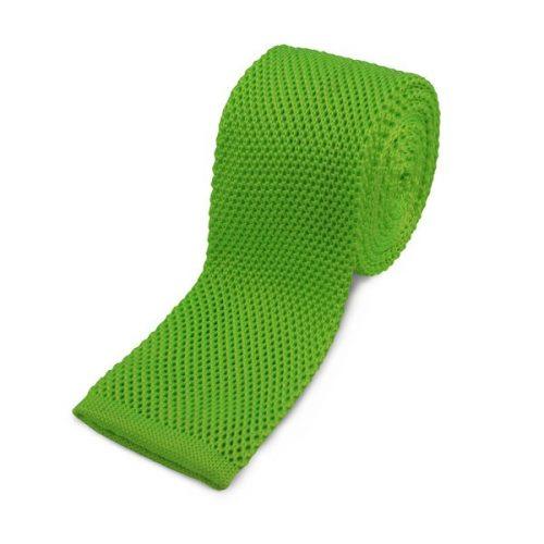 Neongrønt Strikket Slips
