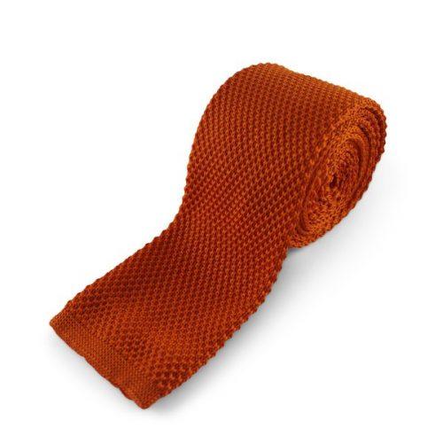 Orange Strikket Slips