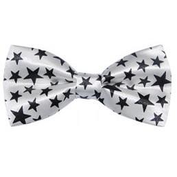 Hvid Børnebutterfly M. Sorte Stjerner