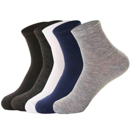 Ensfarvede sokker